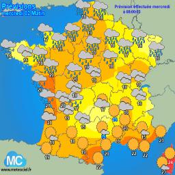 Meteocielfr Tableau Des Phénomènes Météo Reportés